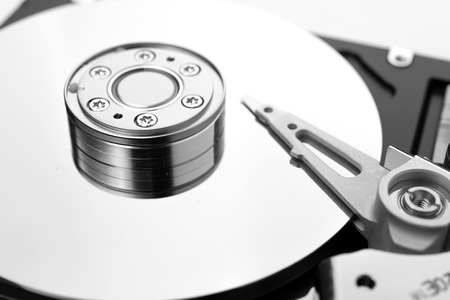 HDD on white photo