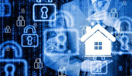 agent de s�curit�: concept de l'assurance habitation. Banque d'images