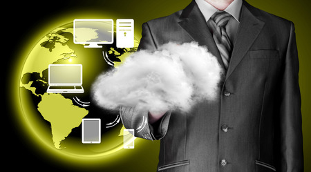 connectivity: Cloud computing, technology connectivity concept Stock Photo