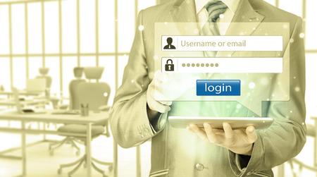 password: login and password