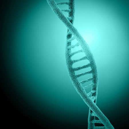genetically: Digital illustration DNA structure in colour background
