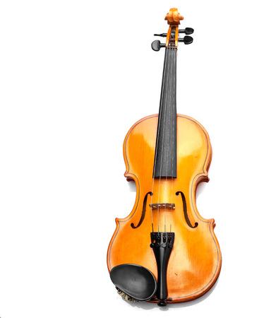 skrzypce na białym tle