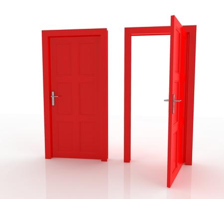 open doors: Closed and Open Doors Isolated