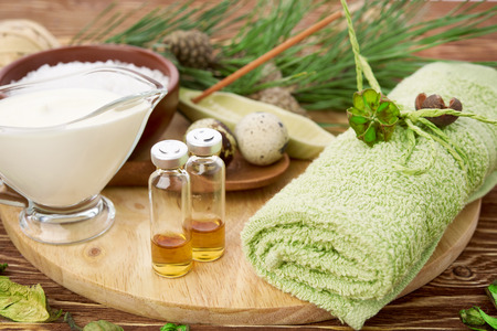 Homemade facial masks with natural ingredients 스톡 콘텐츠