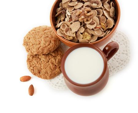 breakfast set on table photo