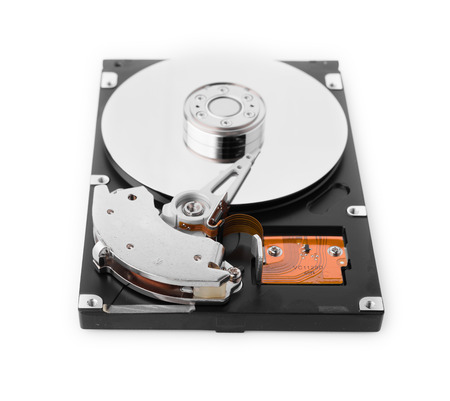 harddrive: HDD on white