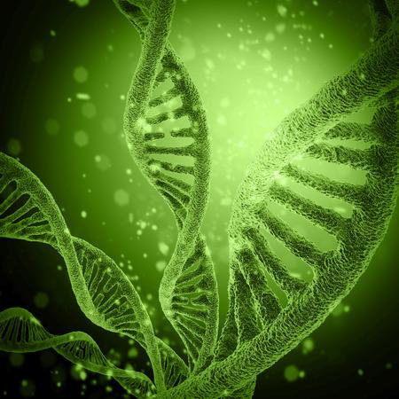 컬러 백그라운드에서 디지털 그림 DNA 구조
