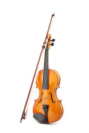 skrzypce na biaÅ'ym tle Zdjęcie Seryjne
