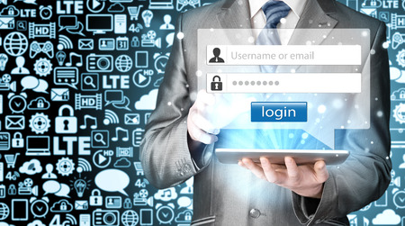 contrase�a: login and password
