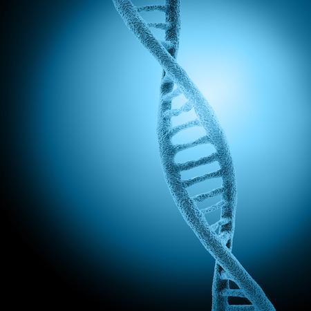 cells biology: Digital illustration DNA structure in colour background
