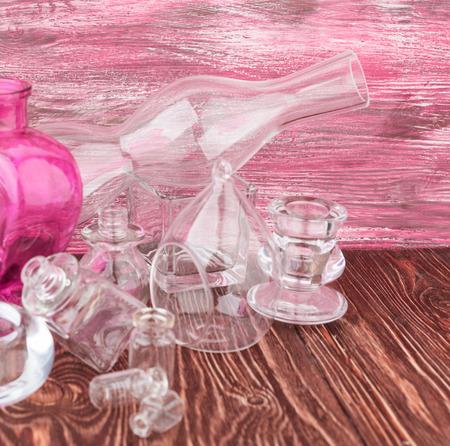 Glass vases Stock Photo