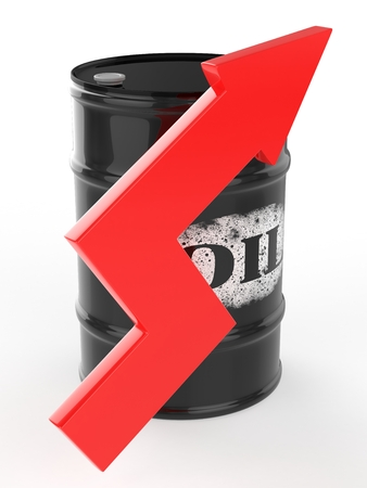 red arrow: Oil Barrels with Red Arrow Up.