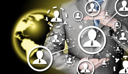 protect social connection concept Banque d'images