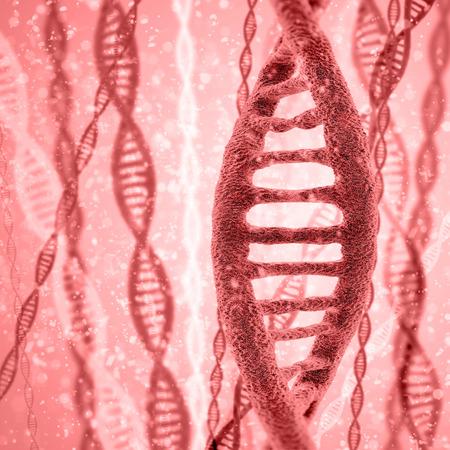 Digital illustration DNA structure in colour background
