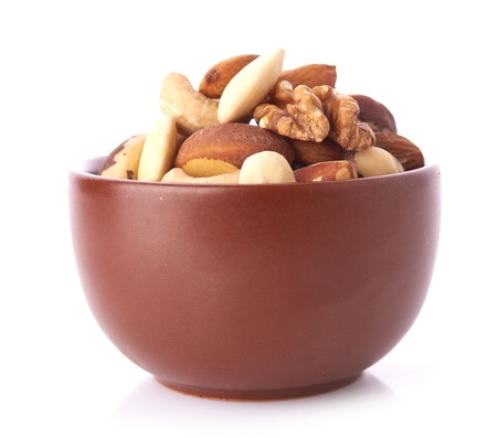 mixed nuts: Mix nuts  on white background