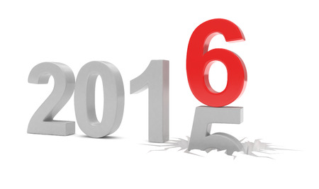 the end of the year: 2015-2016 change new year 2016 isolated