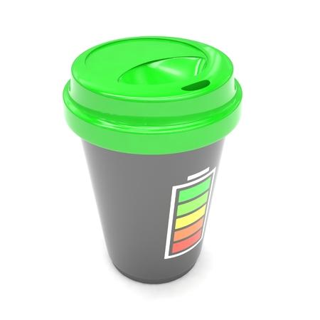 caf� � emporter: Caf� pour aller sur blanc