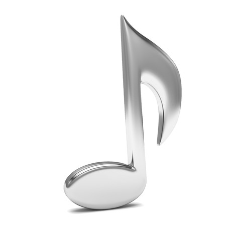 single songs: music note 3D, on white
