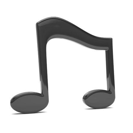 chord: music note 3D, on white