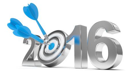 metas: 2016 blanco 3d ilustraci�n Foto de archivo