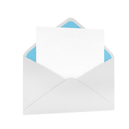 e mailing: open mail with white blank