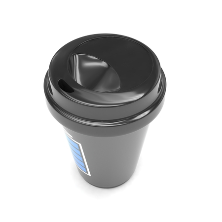 caf� � emporter: Coffee to go on white