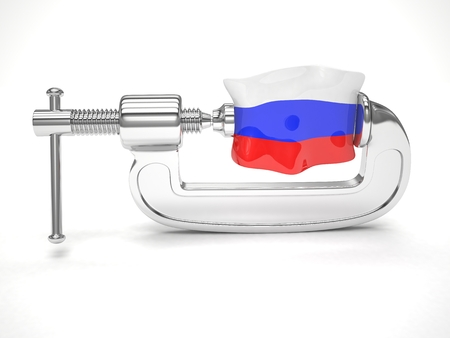 clamp: Russias flag in clamp
