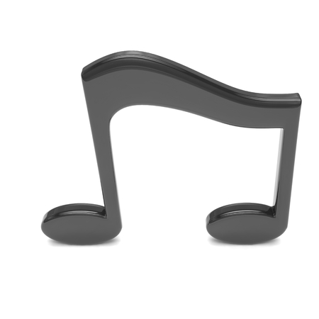 3d music: 3d music note on white Stock Photo