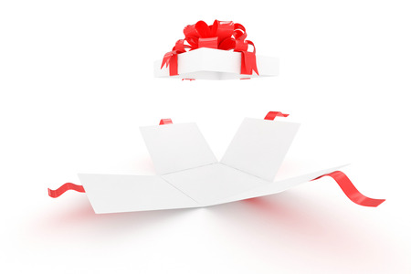 open gift box: open gift box on white Stock Photo