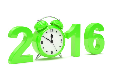 end of the days: New year 2016 concept