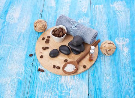 spa stuff: spa stuff on wooden background