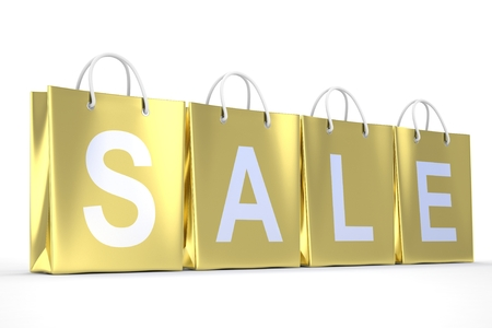 shopping sale: sale written on shopping bag