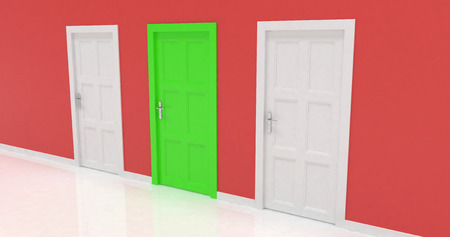 3d doors Stock Photo