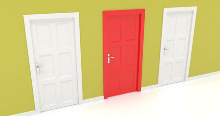 3d: 3d doors Stock Photo