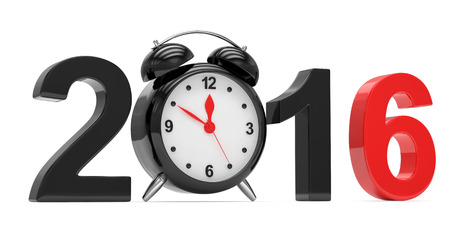 end of the days: New year 2016 concept on white