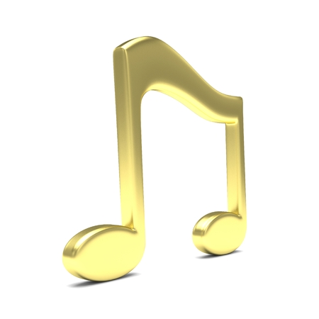 chord: music note 3D on white