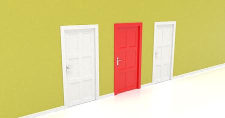 render: 3d door render vote concept