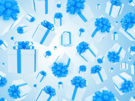 fall down: a lot of gift box fall down