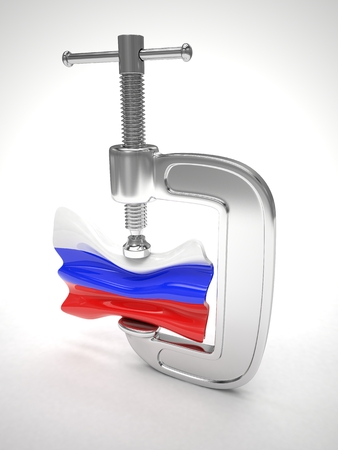 sanction: Russias flag in clamp