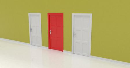 render: 3d door render, vote concept
