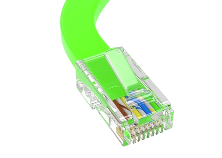 wire rj-45 on a white background, isolated Stock Photo