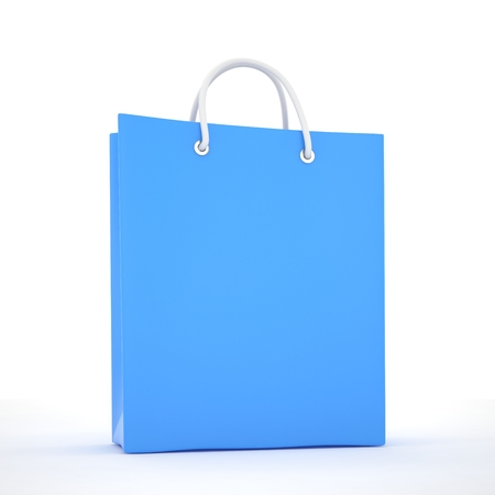 shoping bag: Paper Shopping Bag isolated on white background
