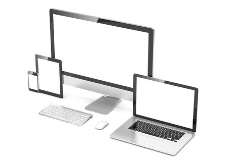 computer devices: Ultimate web design, laptop, smartphone, tablet, computer, display
