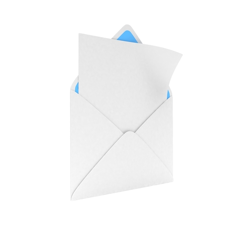 e new: open mail with white blank