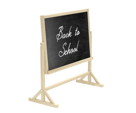 lecture room: Back to School concept. Blackboard, chalkboard isolated on white