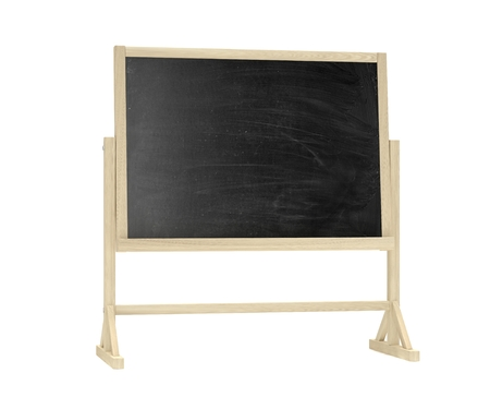 lecture room: blackboard, chalkboard isolated on white