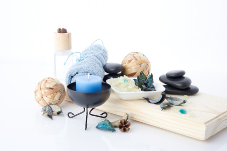 spa stuff: spa stuff on white background Stock Photo