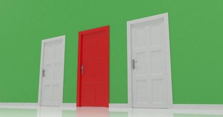 render: 3d doors render