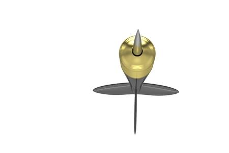 precise: dart isolated on white Stock Photo