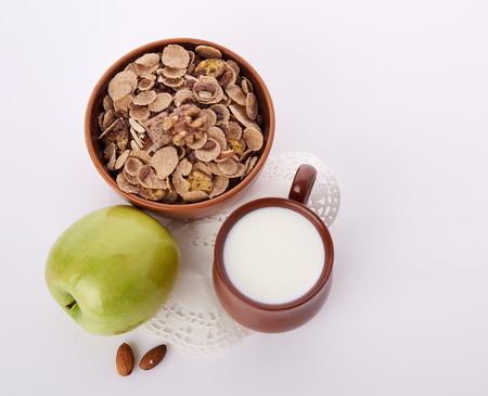 fruits juice: breakfast on table Stock Photo